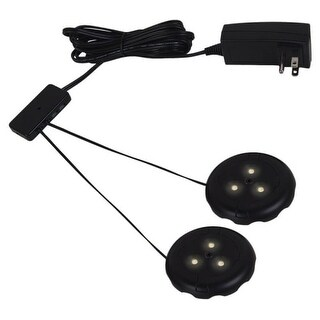 Ambiance Lighting Systems 910014 LED Disk Lighting Kit 2 LED Puck Lights 2700K (3 options available)