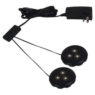 Ambiance Lighting Systems 910015 LED Disk Lighting Kit 2 LED Puck Lights 3000K