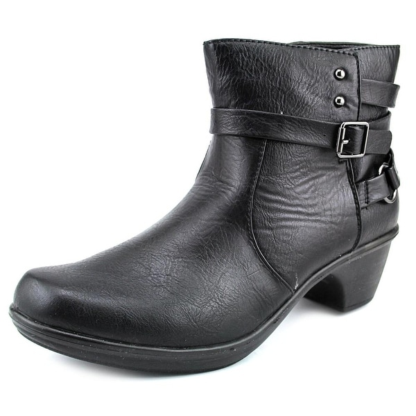 Easy Street Carson Women W Round Toe Synthetic Black Ankle Boot