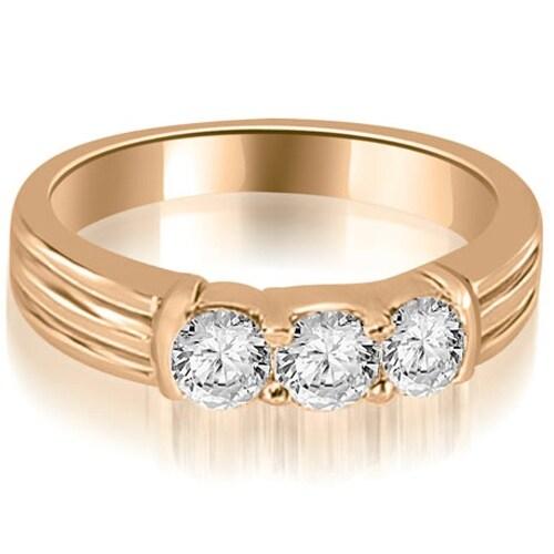 0.75 cttw. 14K Rose Gold Prong Set Round Cut Diamond Wedding Band