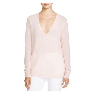 Theory Womens Adrianna Pullover Sweater Cashmere V-Neck