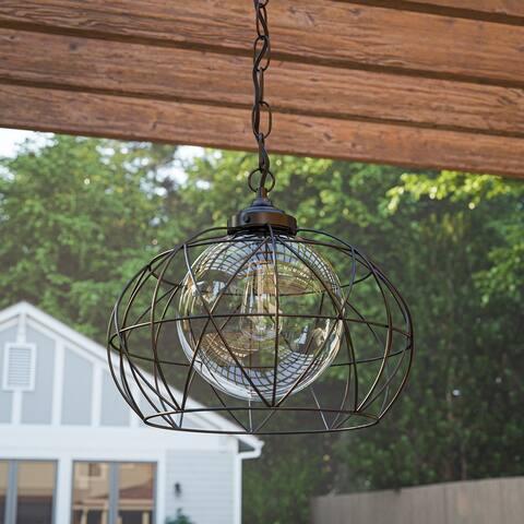 Cliff Blackened Oil Rubbed Bronze 1-light Outdoor Pendant