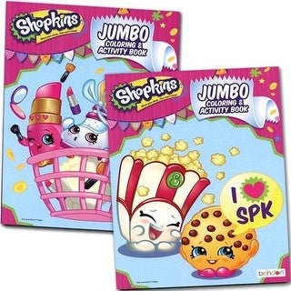 Shopkins Jumbo Coloring and Activity Book 2 Piece set (Assorted)