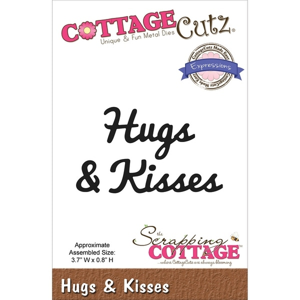 "CottageCutz Expressions Die-Hugs & Kisses 3.7""X.8"""