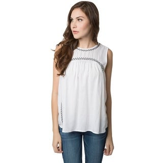 Indie Bella Womens Blouse Embroidered Sleeveless