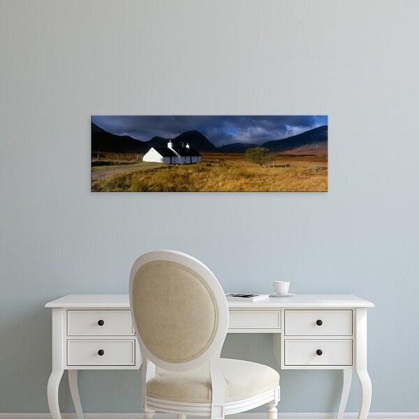 Easy Art Prints Panoramic Images's 'Highlands Cottage, Glencoe, Scotland, United Kingdom' Premium Canvas Art
