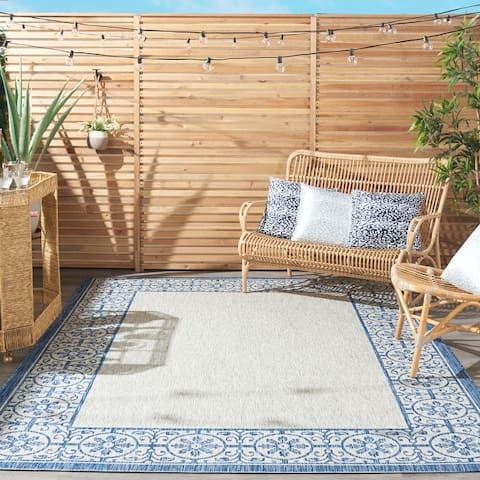 Nourison Garden Party Bordered Indoor/Outdoor Area Rug