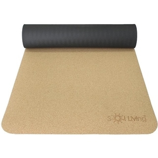 Link to Sol Living Yoga Mat Cork Non Slip Extra Thick Exercise Mat for Yoga, Pilate, Mediation - Brown - 24 -In x 72 -In Similar Items in Fitness & Exercise Equipment