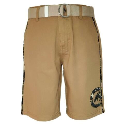 Ecko Unltd British Tobacco Camo Trim and Logo Cargo Shorts Big Boys
