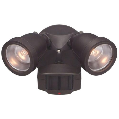 "Designers Fountain PH218S 9.75"" Width 2 Light Motion Detector Flood Light"