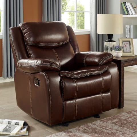 Furniture of America Nuss Transitional Brown Solid Wood Chair