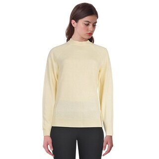 Karen Scott Long Sleeve Mockneck Sweater Top ButterCreme