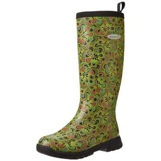 Muck Boot Womens Breezy Tall Floral Print Knee-High Rain Boots