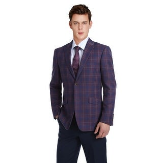 Link to Verno Men's 2-Buttons Slim Fit Sport Coat Premium Plaid Blazer Similar Items in Sportcoats & Blazers