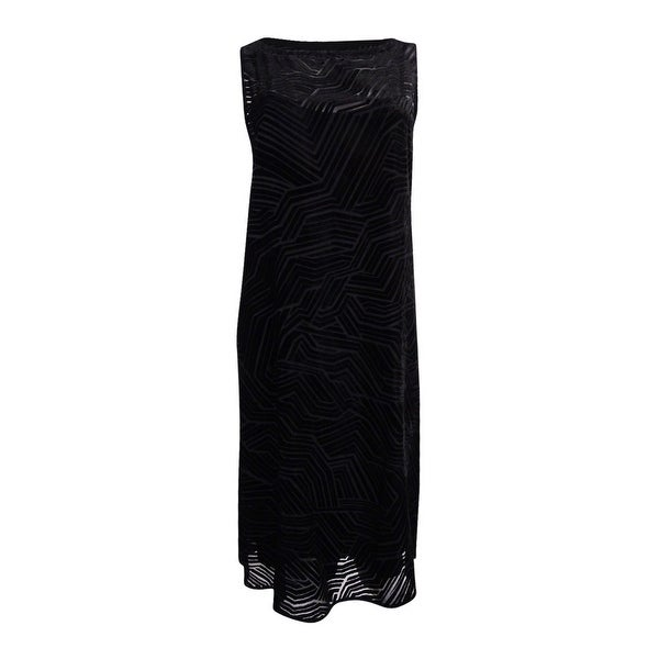 a9ae6924b3 Shop Alfani Women s Burnout Velvet Shift Dress - Black - On Sale - Free  Shipping Today - Overstock - 19771707
