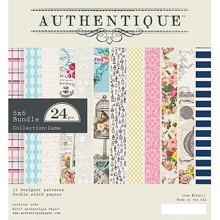 """Authentique Double-Sided Cardstock Pad 6""""X6"""" 24/Pkg-Dame"""