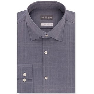 "Link to Michael Kors Mens Classic Regular Fit Button Up Dress Shirt, blue, 15.5"" Neck 34""-35"" Sleeve Similar Items in Shirts"