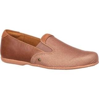 4EurSole Women's Waltz Flat Sport Loafer Latte Full Grain Leather/Mesh