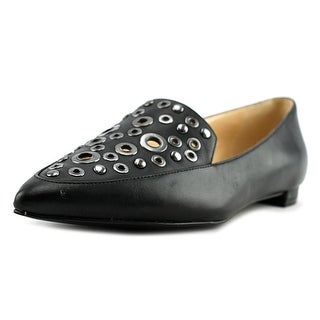 Nine West Akeelah Women Pointed Toe Leather Black Flats
