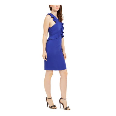 TRINA TURK Blue Sleeveless Short Dress 12