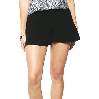 Guess NEW Deep Black Womens Size 4 Ruffle-Hem Back-Zip Casual Shorts