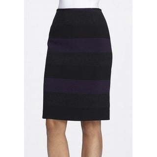 Tahari By ASL NEW Black Women's 0P Petite Striped Straight Pencil Skirt