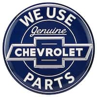 Chevrolet 90169772-S Parts Button Embossed Tin Sign