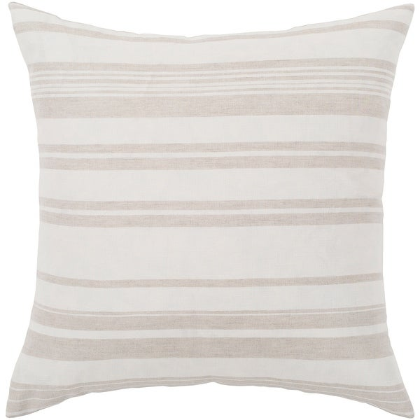 """Lawson Ivory & Beige Striped Throw Pillow Cover (18"""" x 18""""). Opens flyout."""