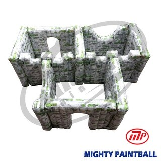 MP - Mighty Paintball Air Bunker - wall panel combination - 3 BOX shape, 3I3F2H2G (MP-SB-WP03)