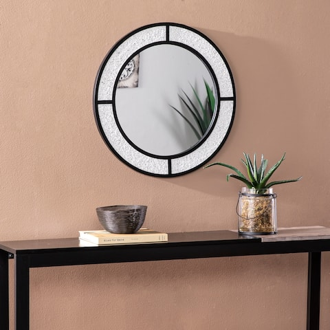 Silver Orchid Hesby Contemporary Black Mirror