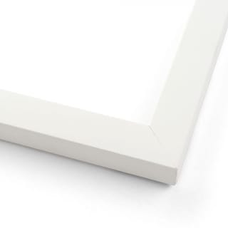 White Wood Picture Frame - Made To Display Artwork Measuring 24x45 Inches - Matte White (solid wood)