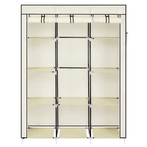 "67"" Portable Closet Organizer Wardrobe Storage Organizer with 10 Shelves"