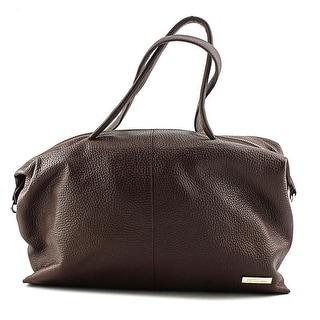 Ferre Milano Guidi    Leather  Satchel - Brown