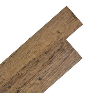 vidaXL Self-adhesive Flooring Planks 54ft² Nonslip PVC Walnut Brown Floor Tile