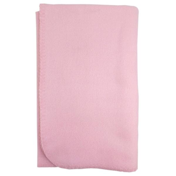Bambini Blank Pink Polarfleece Blanket - Size - 30x40 - Girl