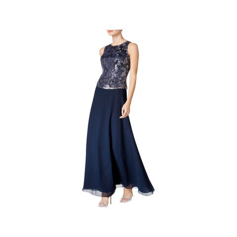 4b3f94c05fc J Kara Womens Evening Dress Sequined Beaded