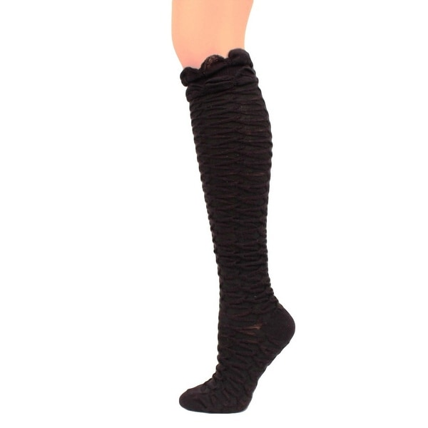 Blazin Roxx Western Socks Womens Knee High Honeycomb Ruffled 0