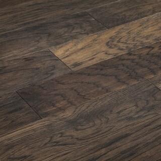 "SAMPLE Kanstar Engineered Hardwood - 34.44 sq. ft. Helios Collection La Playa / Hickory / 5""/ 0.45"" / 9"""