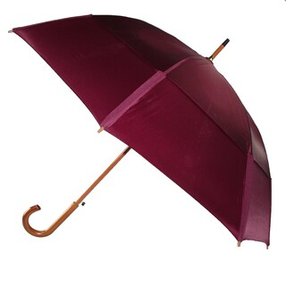 GustBuster Auto Open Vented Stick Umbrella with Hook Handle - One size