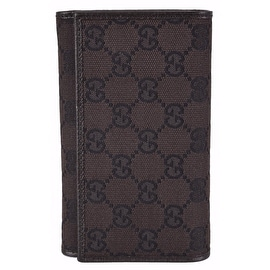 New Gucci Women's 263114 Brown Canvas GG Guccissima Bifold Wallet W/Coin