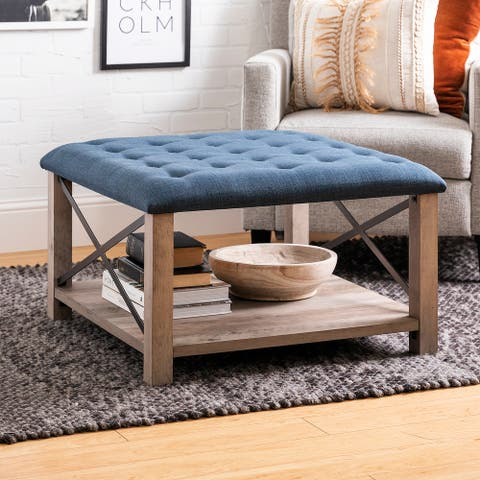 The Gray Barn 30-inch Square Tufted Seat Ottoman