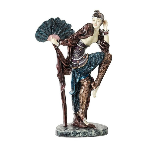 shop design toscano fan dancer art deco dancer sculpture - free shipping today