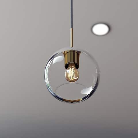 Glow's Avenue 1-Light Dimmable Single Globe Glass Pendant - N/A