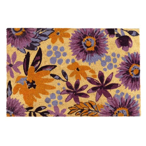 Blossom 24x36 Coir Doormat by Kosas Home