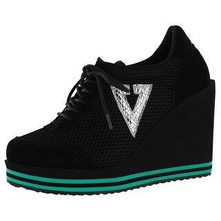 Volatile Rappin Women's Platform Wedge Sneakers Shoes (2 options available)