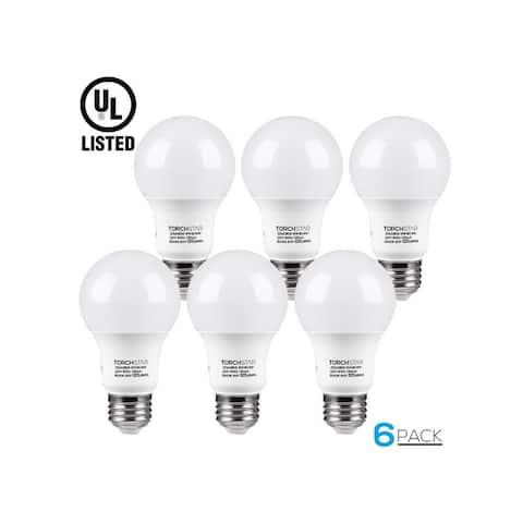 6 PACK 9W A19 LED Light Bulb, E26/E27 Base, UL-listed, 3000K Warm White/5000K Daylight