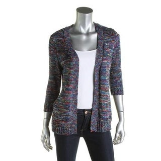 NY Collection Womens Petites Cardigan Sweater Space Dye Open Front - ps