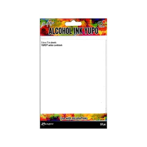 Tac49715 ranger tholtz alcohol ink yupo cdstk 5x7 white