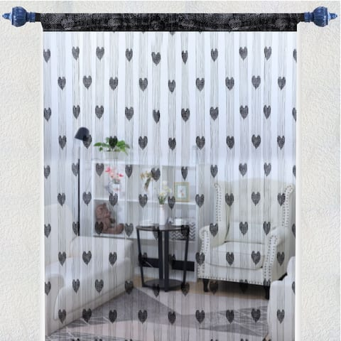"String Curtain Fringe Panel 39"" x 79""(W*H) Decorate Backdrop Bedroom Door Window - 39"" x 79"""