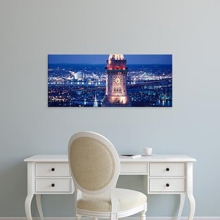 Easy Art Prints Panoramic Image 'Clock tower of the Custom House, Boston, Suffolk County, Massachusetts' Canvas Art
